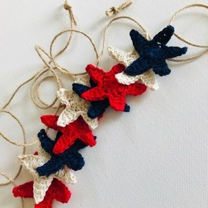 Other - Patriotic Stars Crochet garland